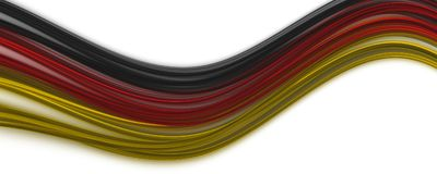 Abstract illustrated german color panorama design for sport even. Ts Stock Image