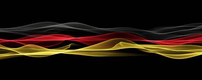 Abstract illustrated german color panorama design for sport even. Ts Stock Photo