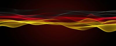 Abstract illustrated german color panorama design for sport even. Ts Stock Photos