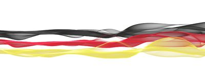 Abstract illustrated german color panorama design for sport even. Ts Royalty Free Stock Images