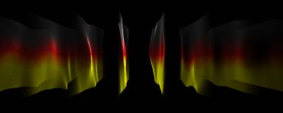 Abstract illustrated german color panorama design for sport even. Ts Royalty Free Stock Photos