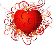 Abstract illustrated heart Royalty Free Stock Photo