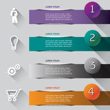 Abstract illustrated Infographic Stock Images
