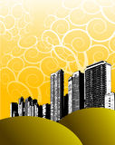 Abstract illustrated skyline Stock Photo