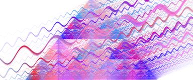 Abstract illustration. Abstract fractal illustration as a background Stock Image