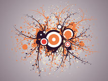 Abstract illustration. Abstract images consisting of patterns, lines, blots, flowers, leaves and other parts of s Royalty Free Stock Images