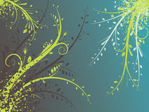Abstract illustration. Abstract images consisting of patterns, lines, blots, flowers, leaves and other parts of s Stock Image