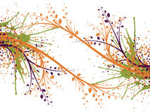 Abstract illustration. Abstract images consisting of patterns, lines, blots, flowers, leaves and other parts Royalty Free Stock Photography