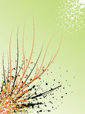 Abstract illustration. Abstract images consisting of patterns, lines, blots, flowers, leaves and other parts Stock Photo
