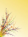Abstract illustration. Abstract images consisting of patterns, lines, blots, flowers, leaves and other parts Stock Photography
