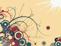 Abstract illustration. Abstract images consisting of patterns, lines, blots, flowers, leaves and other parts Stock Images