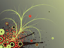 Abstract illustration. Abstract images consisting of patterns, lines, blots, flowers, leaves and other parts of royalty free illustration
