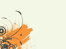 Abstract illustration. Abstract images consisting of patterns, lines, blots, flowers, leaves and other parts stock illustration