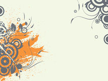 Abstract illustration. Abstract images consisting of patterns, lines, blots, flowers, leaves and other parts of Stock Photo
