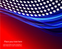 Abstract illustration of American flag Stock Photography