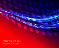 Abstract illustration of American flag Stock Photo