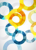 Abstract illustration background with circles. Royalty Free Stock Image