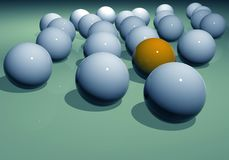 Abstract illustration of balls Stock Image