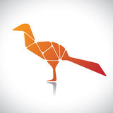 Abstract illustration of a bird in orange color Stock Photos