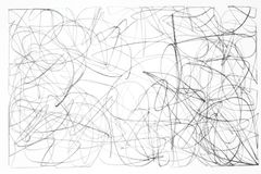 Pencil and paper. Abstract illustration of a black pencil drawing on white paper stock photography