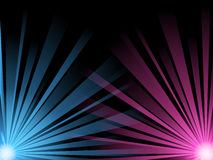 Abstract illustration of blue and pink light beams Royalty Free Stock Image