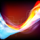 Abstract illustration with blue and red design. Stock Image