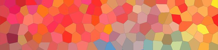 Abstract illustration of blue red and yellow bright Little hexagon banner background, digitally generated. Abstract illustration of blue red and yellow bright vector illustration