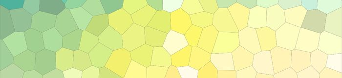 Abstract illustration of blue and yellow colorful Middle size hexagon banner background, digitally generated. Abstract illustration of blue and yellow colorful stock illustration