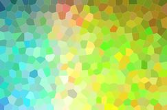 Abstract illustration of blue, yellow and green bright little hexagon background. Abstract illustration of blue, yellow and green bright little hexagon royalty free illustration