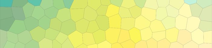 Abstract illustration of blue and yellow pastel Middle size hexagon banner background, digitally generated. Abstract illustration of blue and yellow pastel royalty free illustration
