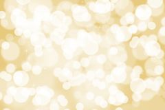 Abstract illustration bokeh on golden background stock image