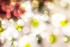 Abstract illustration bokeh light on black Royalty Free Stock Image