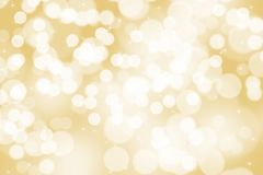 Abstract illustration bokeh light on golden background royalty free stock photos