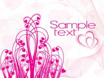 Abstract illustration bouquet Royalty Free Stock Image