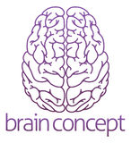 Abstract illustration of a brain Royalty Free Stock Photos