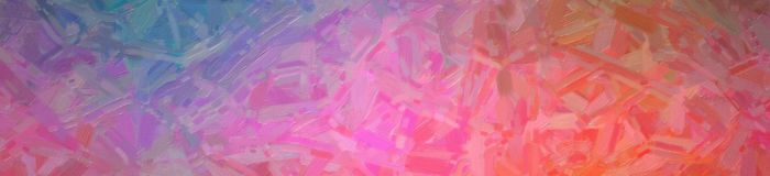 Abstract illustration of brown blue pink and red Abstract Oil Painting banner background, digitally generated. Abstract illustration of brown blue pink and red stock illustration