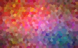 Abstract illustration of brown blue pink and red bright Small Hexagon background, digitally generated. Abstract illustration of brown blue pink and red bright vector illustration