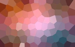 Abstract illustration of brown blue pink and red colorful Big Hexagon background, digitally generated. Abstract illustration of brown blue pink and red colorful Vector Illustration