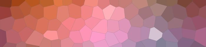 Abstract illustration of brown blue pink and red colorful Middle size hexagon banner background, digitally generated. Abstract illustration of brown blue pink royalty free illustration