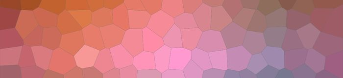 Abstract illustration of brown blue pink and red pastel Middle size hexagon banner background, digitally generated. Abstract illustration of brown blue pink and stock illustration