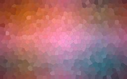 Abstract illustration of brown blue pink and red pastel Small Hexagon background, digitally generated. Abstract illustration of brown blue pink and red pastel stock illustration