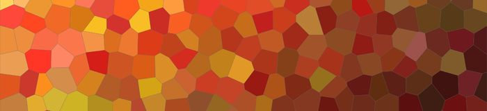Abstract illustration of brown bright Little hexagon banner background, digitally generated. Abstract illustration of brown bright Little hexagon banner vector illustration