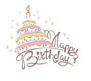 Abstract illustration -- cake & birthday Royalty Free Stock Photography