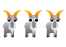 Abstract illustration of cartoon goat Royalty Free Stock Photos