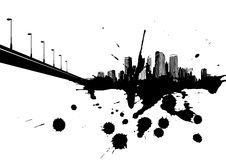 Abstract illustration with city. Stock Image