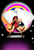 Abstract illustration on a club theme. The girl on an abstract background Royalty Free Stock Photography