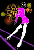 Abstract illustration on a club theme. The girl on an abstract background Stock Photography