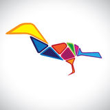 Abstract illustration of a colorful bird in 3d Stock Image