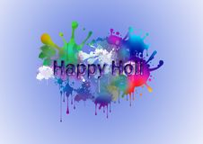 Abstract or  illustration of colorful promotional blue background for Festival of Colors celebration called holi. Abstract or illustration of colorful Royalty Free Stock Image