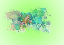 Abstract or  illustration of colorful promotional green background. Abstract or illustration of colorful promotional blue background for Festival of Colors Royalty Free Stock Photography